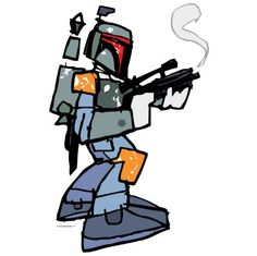 I must say this is a FUN illustration of Boba Fett from Star Wars! (click the photo for more details)