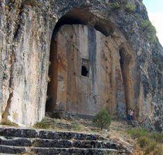 Kapilikaya Rock-Cut Tomb in Kırkdilim, Çorum (Turkey).