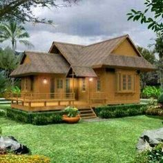 Photos Of Beautiful Wooden House Structure Design House Structure Design, Bamboo House Design, Style At Home, Home Interior Design, Interior And Exterior, Exterior Design, Fixer Upper House, Thai House, Wooden House