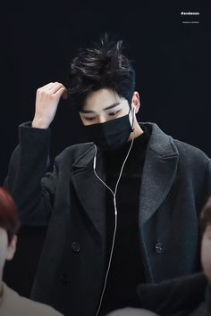 Rowoon in black is my religion K Pop, Bad Boys, Cute Boys, Neoz School, Taehyung, Bae, Sf 9, Def Not, Fnc Entertainment