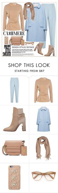 """Cozy Cashmere Sweater"" by ellie366 ❤ liked on Polyvore featuring Marni, Jil Sander, Burberry, Miu Miu, Valentino, MICHAEL Michael Kors, Wildfox, cozy, nude and pastels"