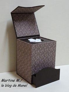 Martine M. /élève de Manel / boite à mouchoirs et son tiroir secret