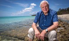 David Attenborough on Lizard Island, on the Great Barrier Reef.