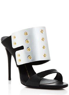 Giuseppe Zanotti Open Toe Slide Sandals - Coline Shield High Heel