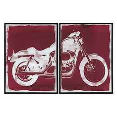Red Motorcycle - Set of 2 | Canvas | Art by Type | Art | Z Gallerie