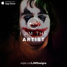 miPic is a social marketplace for artists & photographers to print, share & sell their pictures as beautiful art, fashion and lifestyle products Fashion Art, Something To Do, Cool Art, Joker, Neon Signs, App, Gallery, Awesome, Artist
