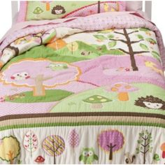 Nature Pink Hoot Owl Full / Queen Quilt & Shams Set (3 Piece Bedding) - Bed & Bath - Decorative Bedding - Quilts & Coverlets