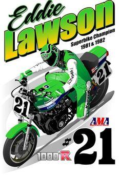Kawasaki 1000R Eddie Lawson AMA #21