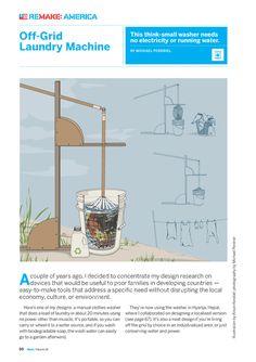 from Make-digital.com MAKE Volume 18 - Page 60-61... off-grid laundry machine