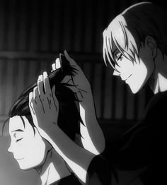 Welcome to Mono Yoi Studio Your source for monochrome gifs and edits of the Japanese sports anime about figure skating Yuri! on Ice. Yuri On Ice, Kuroko, Figure Skating, Monochrome, Fan Art, Manga, Studio, Cute Anime Guys, Girls