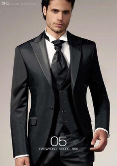Wholesale cheap dress market online, gender - Find best wholesale-new custom-made black signal peak lapels breast…