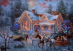Amazon.com - Welcome Home, Nicky Boehme Fiber Optic Wall Hanging 36X26 inches