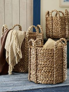 Cadman Basket - Ralph Lauren Home Decorative Accessories Jute Crafts, Diy And Crafts, Home Decor Accessories, Decorative Accessories, Decorative Storage, Wicker Baskets, Woven Baskets, Basket Weaving, Handmade