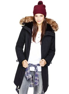TNA ASPEN PARKA | Aritzia - The lightweight fill and cozy faux-fur lining help keep the cold out and the warmth in.