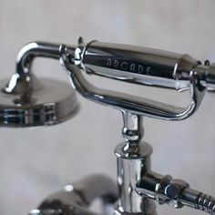 Arcade Deck Mounted Bath Shower Mixer - Nickel - ARC18