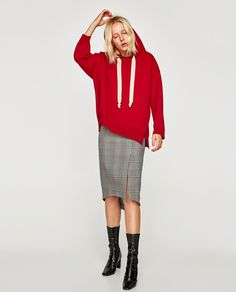 Image 1 of ASYMMETRIC CHECKED SKIRT from Zara