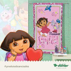 Dora promete trazer o verão para dentro do quarto da garotada, deixando o ambiente muito mais alegre e divertido o ano inteiro! #doraeseusamigos