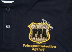Princess Protection Agency badge with crown on by Debbiemomofjack, $28.00
