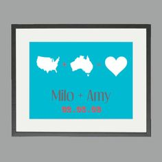 Anniversary Gift  Wedding Present State or Country by anewhistory, $22.00