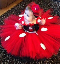 Minnie Mouse Tutu Costume/Dress and headband by MiniBloomsBoutique