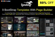 Bootstrap Template With Page Builder by @Graphicsauthor