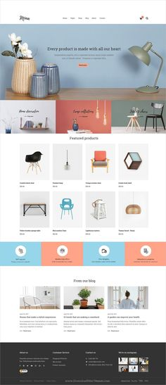 Mina is clean and minimal #design multipurpose PSD template for #furniture, handmade #store and blogs website with 7 homepage layouts and 27 layered PSD files download now > https://themeforest.net/item/mina-responsive-furniture-handmade-shop-blog-psd-template/19893492?ref=Datasata