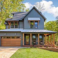 26 Ideas exterior house design ideas architecture cabin for 2019 House Siding, House Paint Exterior, Dream House Exterior, Exterior House Colors, Exterior Design, Exterior Houses, Garage Exterior, House Exteriors, Dark House