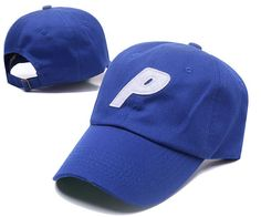 Men s   Women s Palace 6 Panel Skateboards P Logo Embroidery Patch Hat -  Blue   White 36aac1860b09