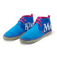 Este modelos son las #James, unas #espadrilles con tonos azules muy jeans. las puedes comprar en www.espadrilleskissme.com