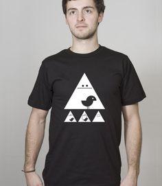 """Organic T-Shirt Men Black """"Achtung"""" White von silberfischer auf Etsy"""