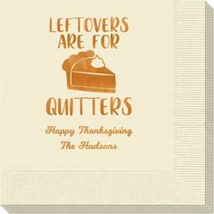 Thanksgiving Leftovers Napkins