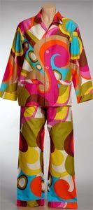 Pyjama Queen Tepper Jackson PJ's; 'Izzy Stripe' and 'Spice'.