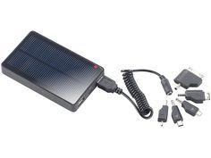 revolt Solar Powerbank mit 4.000mAh für iPad, iPhone, Navi, Smartphone