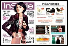 Rickety Rack in InStyle, January 2014 Modern Traditional, Blow Dry, Dress With Boots, Style Guides, Biker, Cool Style, Dressing, Pretty, January