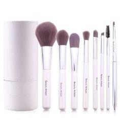 Cosmetic 8 Pcs Soft Bamboo Fiber Makeup Brushes Set with PU Brush Holder Cosmetic Brush Set, Cosmetic Sets, Makeup Brush Set, Eyebrow Makeup, Eyeliner, Eyeshadow, Affordable Makeup Brushes, It Cosmetics Brushes, Lip Brushes