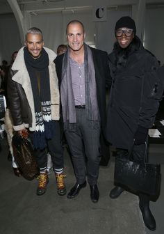 Jay Manuel, Nigel Barker and Miss J Alexander attend the Pamella Roland Fashion Show at Pier 59 Studios on February 10, 2017 in New York City. (Photo by Bennett Raglin/WireImage)  via @AOL_Lifestyle Read more: https://www.aol.com/article/lifestyle/2017/02/10/nyfw-all-major-stars-front-row/21711433/?a_dgi=aolshare_pinterest#fullscreen
