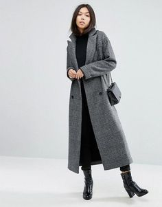 Minimal and chic with grey duster coat