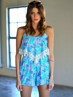 Summer Fling playsuit (blue) at Mura Boutique 2013