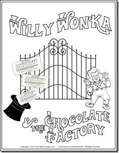 free willy wonka coloring pages - photo#17