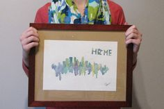 Minneapolis Skyline by TheCanvasAndCoffee on Etsy Watercolor, for sale, minneapolis, splatter arr, gift idea