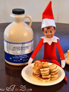 Elf on the Shelf makes breaskfast For the introduction morning