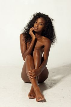 Dark skin naked black women