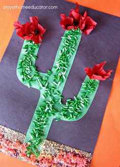 Sensory Cactus Craft (from Stay At Home Educator)