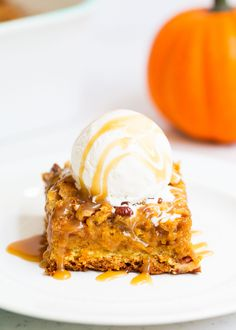 This pumpkin cake is