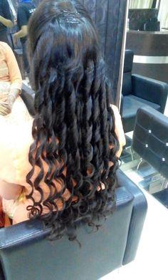 Curls in long hair .. love it