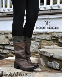 The Creative Bubble: DIY Boot Socks