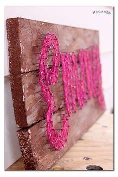 diy string art on foam wood boards