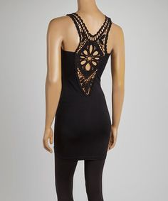 This Black Lace Back Tank by Poplooks is perfect! #zulilyfinds