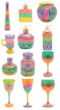 de vidro colorido e pintado à mão
