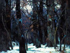 Carlson, John Fabian (1875-1945) - Brooding Silence (Smithsonian American Art Museum, Washington DC).  Oil on canvas mounted on fiberglass; 94.3 x 132.1 cm.